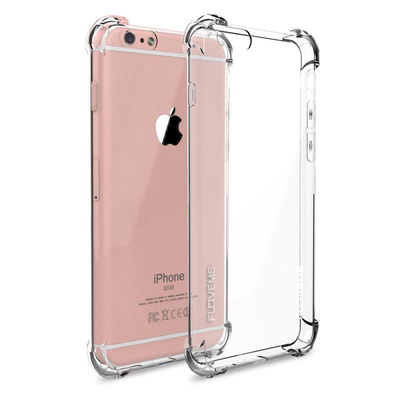 Crystal Clear Transparent Anti Coup Choc Tpu Cas Pour iPhone 5/5S SE 6/6 s 6 SPlus 7/Plus