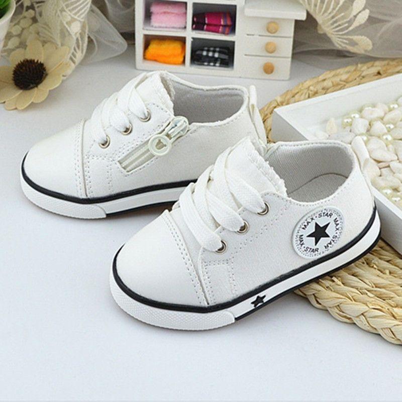 Nuevos Zapatos de Bebé Transpirable Zapatos de Lona de 0-3 Años Los Niños Cómodos Zapatos de Bebé Girls Sneakers Niños Zapatos de Niño de tenis infantil