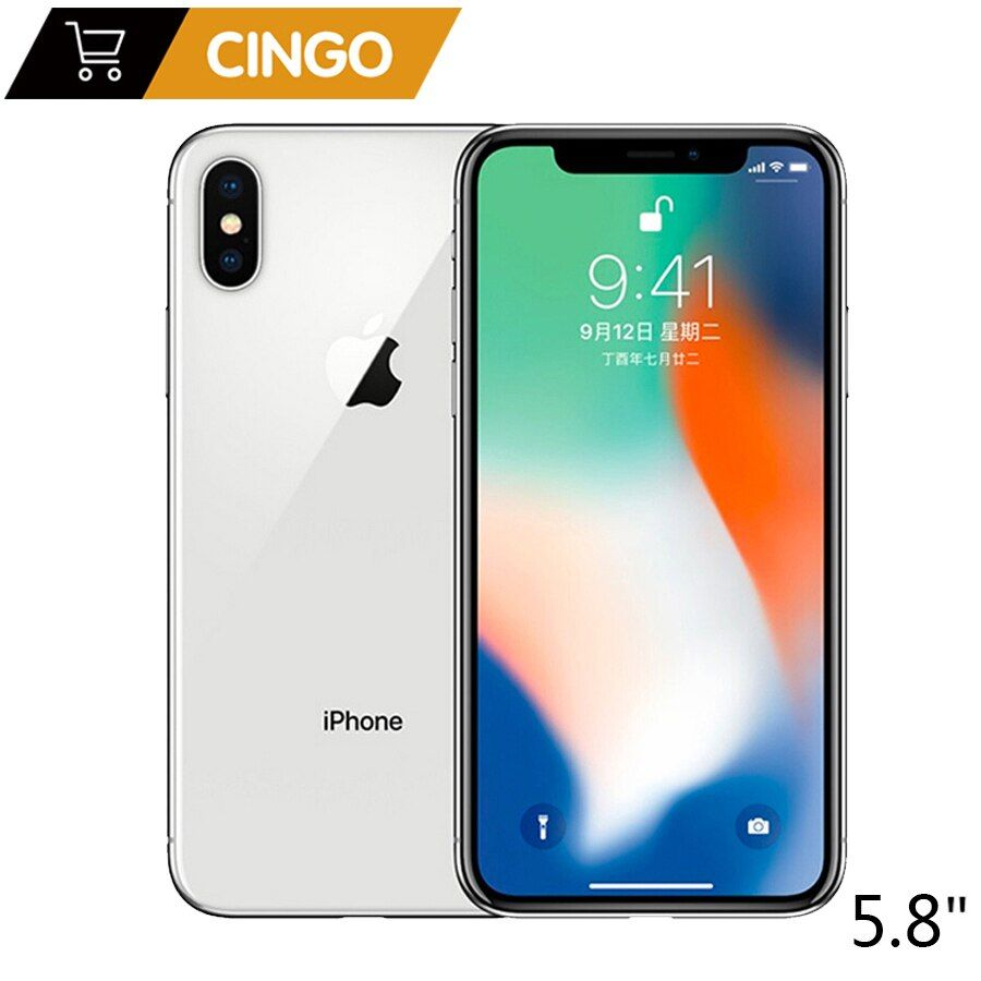 Original Apple iPhone X 3GB RAM 64GB 256GB ROM 5,8