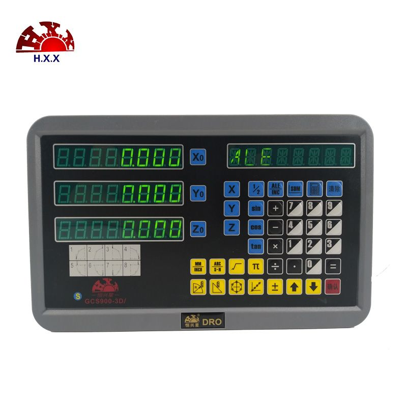 2018 Professional new 3 axis dro digital readout display with 3 pcs 5u linear glass scale/sensor/encoder for milling/lathe
