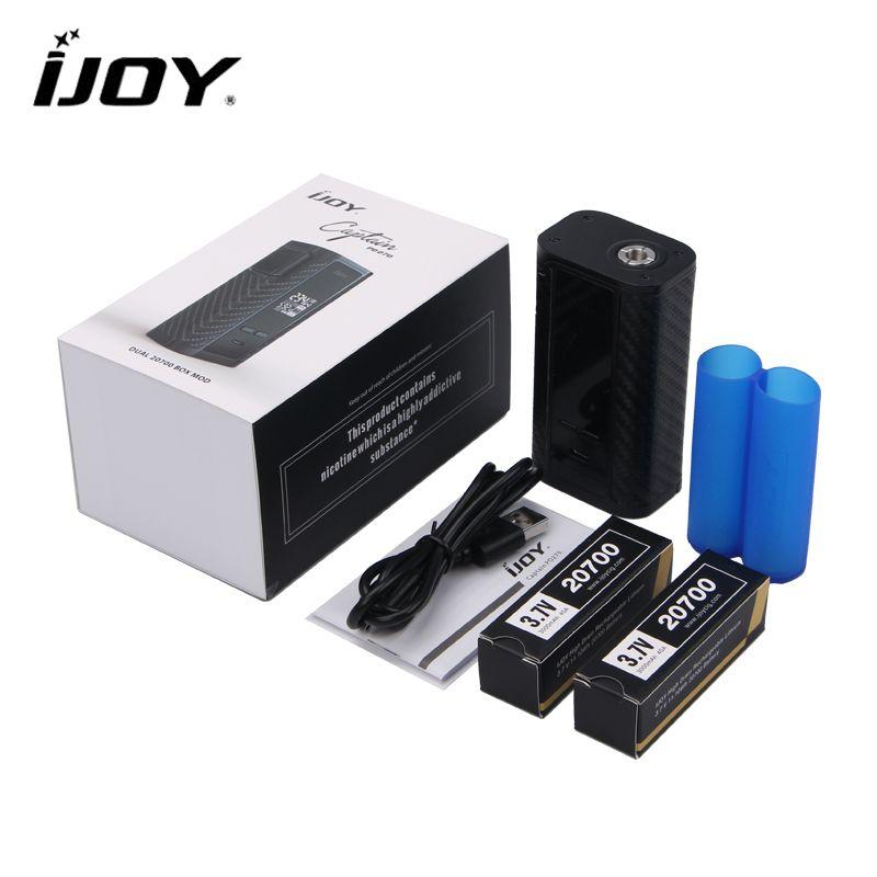 D'origine IJOY Capitaine PD270 e-sigarette Boîte MOD 234 W Cigarette Électronique Puissance par Double 20700 Batterie NI/TI/SS TC Vaper Tuyau MOD