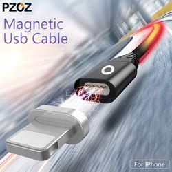 Pzoz Magnétique Câble Pour Iphone 8 7 6 5 S Chargeur de charge Câble Connecteurs de Données Transmission Aimant Par Câble Pour Iphone Ipad Plug