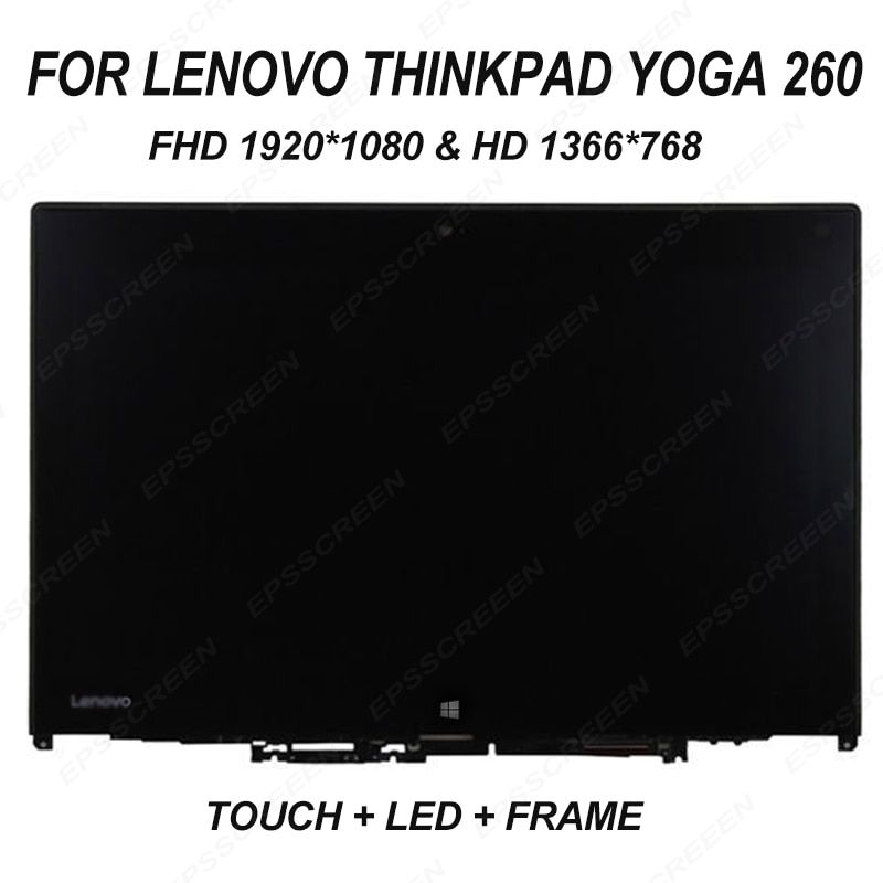 replacement for Lenovo Thinkpad Yoga 260 20FD0002US 01AX904 Touch PANEL LCD Assembly FHD 1920*1080& HD 1366*768 display