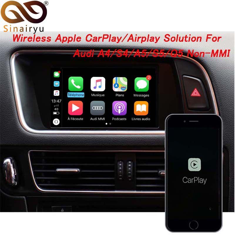 Sinairyu Drahtlose Apple CarPlay Video Interface Lösung für A4 A5 B8 Q5 Ohne MMI Mit Audi Konzert Symphonie Modell