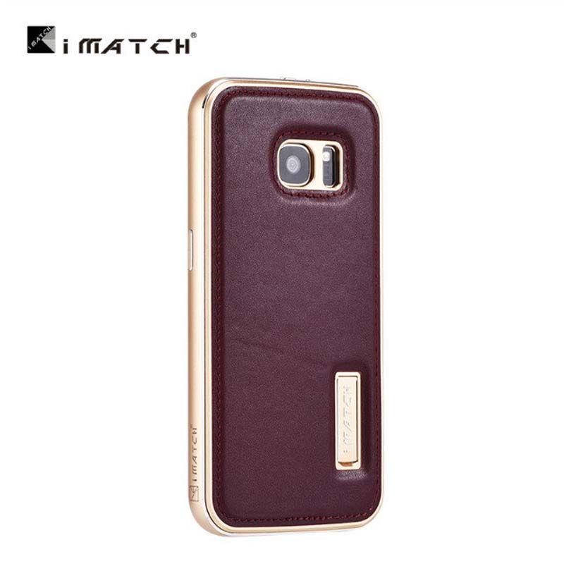Original Luxus Echte Kuh Leder + Aluminum Für Samsung Galaxy S4 S5 S6 EDGE S7 S7 RAND NOTE5 Phone Cases JS0615