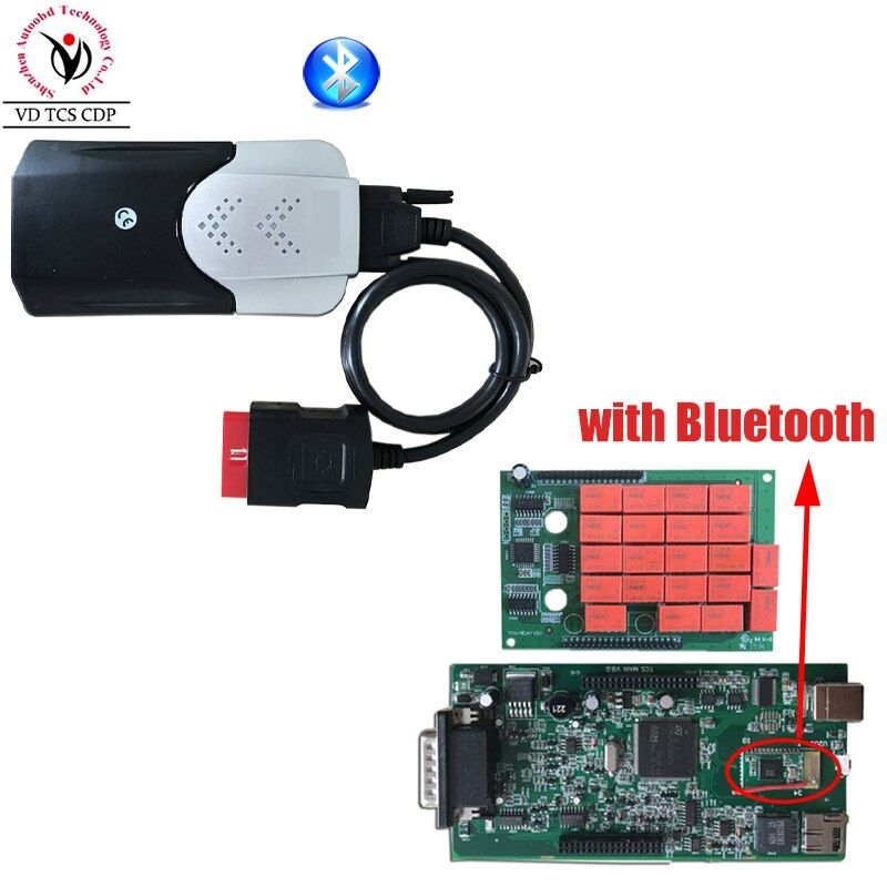 New Vci 2015R3 Keygen 2016R0 VD TCS CDP Pro with Bluetooth Diagnostic tool for Auto Cars/Trucks OBD2 Scanner One Year Warranty