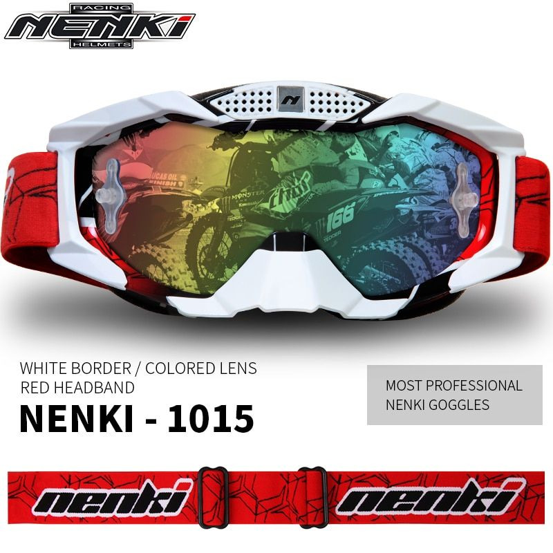 NENKI Motocross Goggles Off-Road ATV Dirt Bike Moto Goggles Ski Snowboard Glasses Motorcycle Glasses Eyewear Replaceable Lens