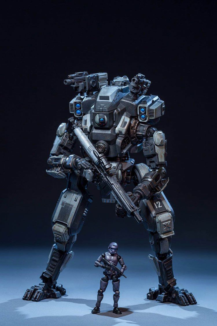 Figures anime Robot soldiers movable mecha military robot action figure JOY TOY 1:27 the 3rd generation (Simple packaging)