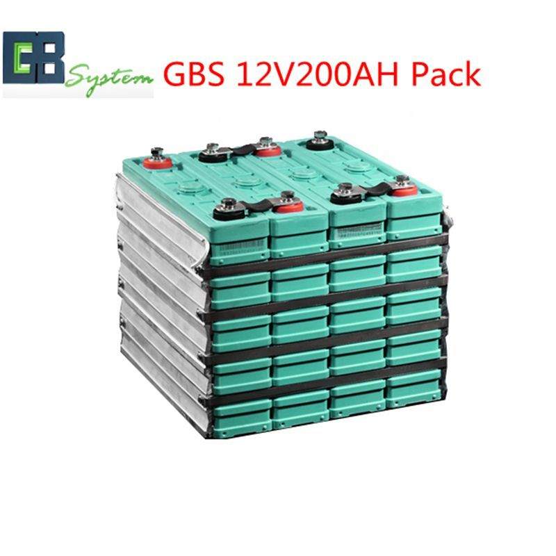 Long life GBS LIFEPO4 Battery pack 12V200AH for electric vehicles,energy storage solar UPS