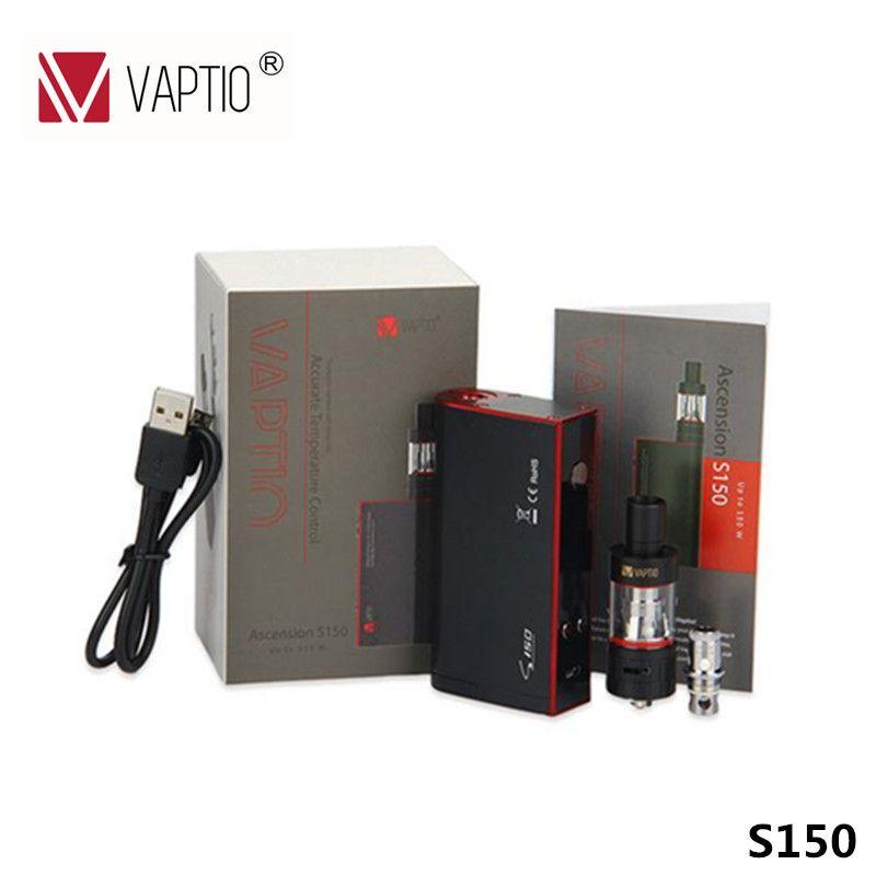 Vaptio mejor e cig 150 w kit vape hookah eléctrica S150 ecig VW/VT-Ni/Ti/SS/ATC temperatura de control 150 W mod cigarrillo electrónico