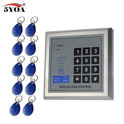 Access Control System RFID Card Keytab Proximity Door Lock Free Shipping 5YOA Brand New Machine Device System