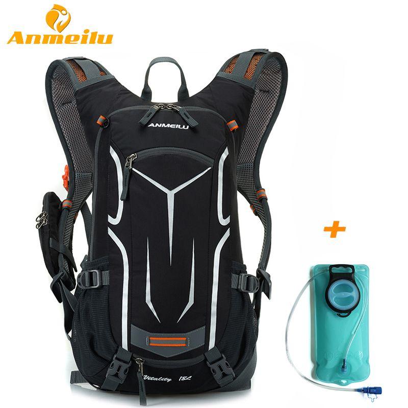 ANMEILU 18L Waterproof Camping Backpack +2L Water Bag Bladder Outdoor Sports Climbing Cycling Bag Sport Rucksacks Camelback 2017