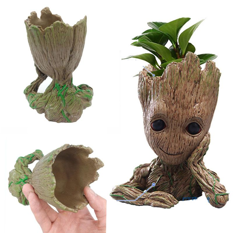Tree Man Baby Action Figure Hero Model Baby Movie Guardians of The Galaxy Flower Pot Toy Desk Decoration Gifts for Kid 0