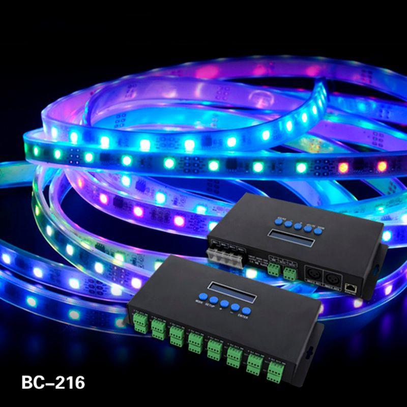 16 Canaux Artnet À SPI/DMX WS2811 WS2812B SK6812 2801 8806 Led Pixel Contrôleur 340 pixels * 16CH DC5V-24V contrôle BC-216