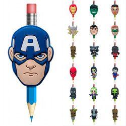 1 Pcs kawaii Avengers Batman Super Homme Groot Stylos Topper Stationnaire Bureau Fournitures Crayon Grip Pen Titulaires Enfants Cadeaux