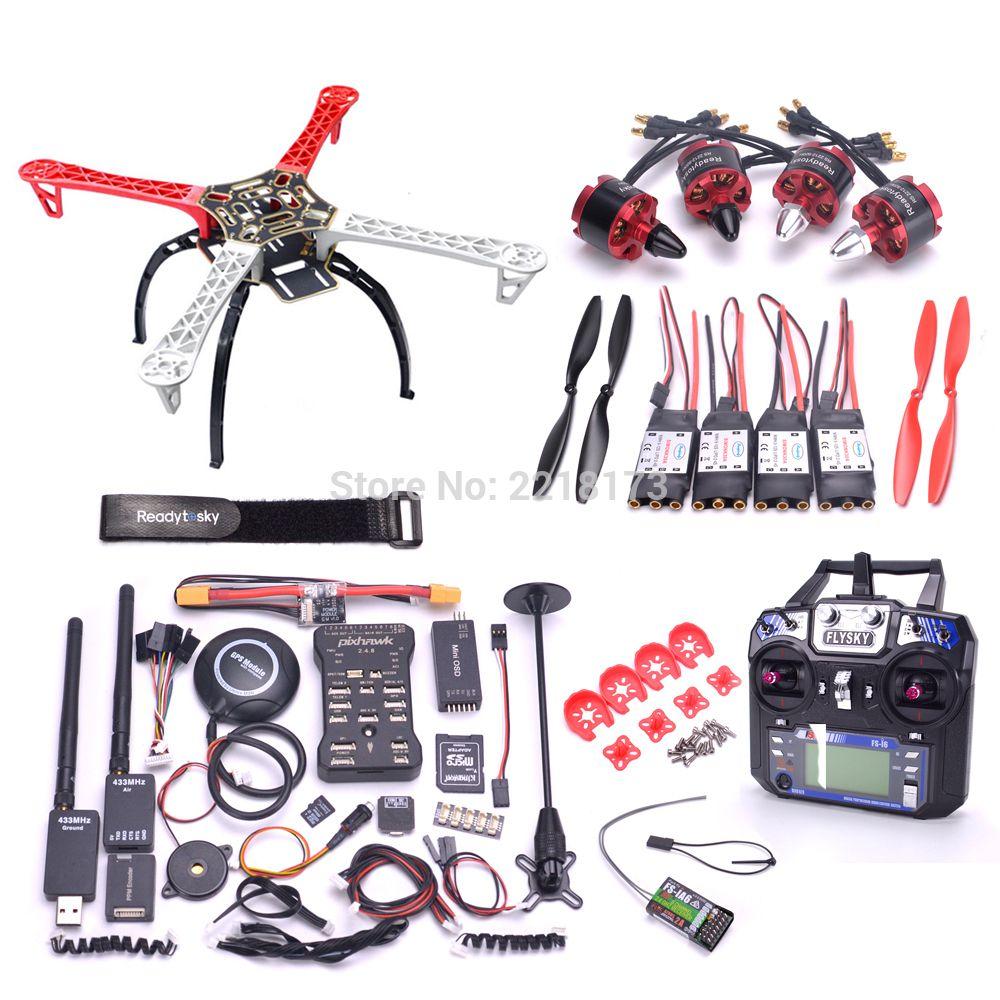 F450 450 Quadcotper Frame Kit Pixhawk 2.4.8 32 Bit Flight Controller with M8N GPS 433 telemetry 2212 920kv motor Flysky I6 FS-I6