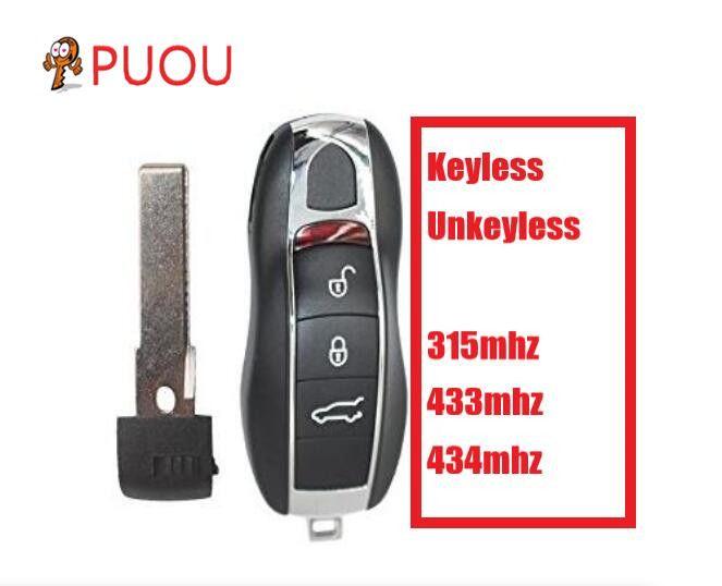 3 taste keyless/unkeyless Fernbedienung Schlüssel Fob Smart Auto Schlüssel 315 mhz 433 mhz 434 mhz Fit Für porsche Panamera Macan Cayman