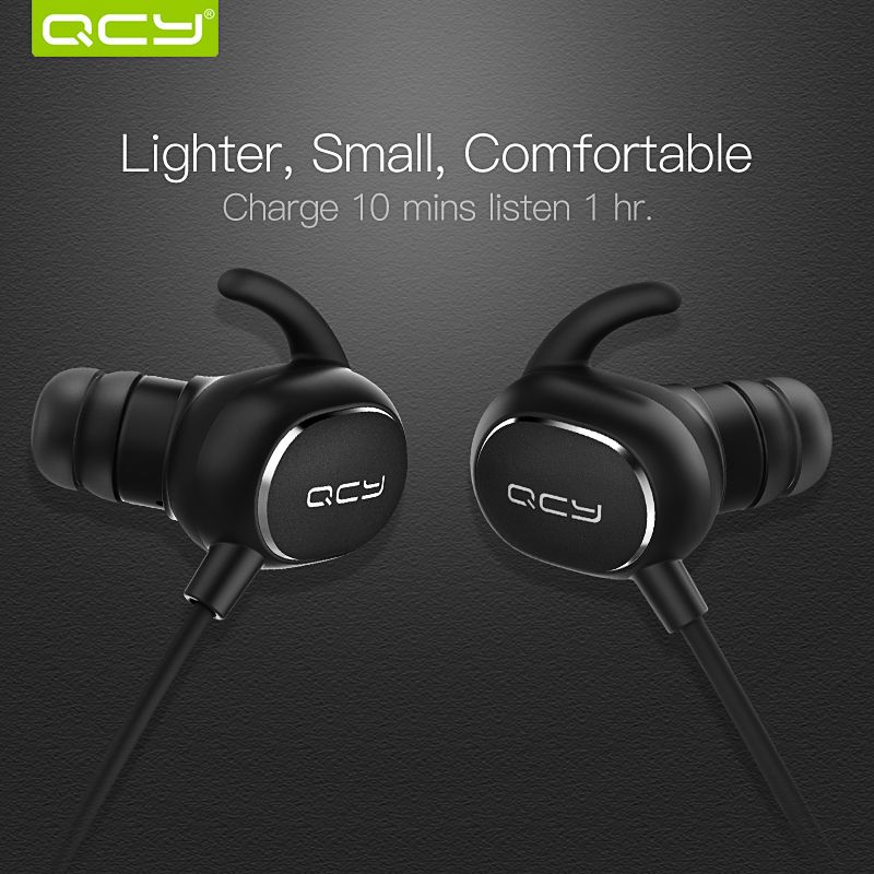 QCY IPX4 sweatproof <font><b>headphones</b></font> bluetooth V4.1 wireless sports earphones aptx 3d stereo headset with microphone handsfree calls