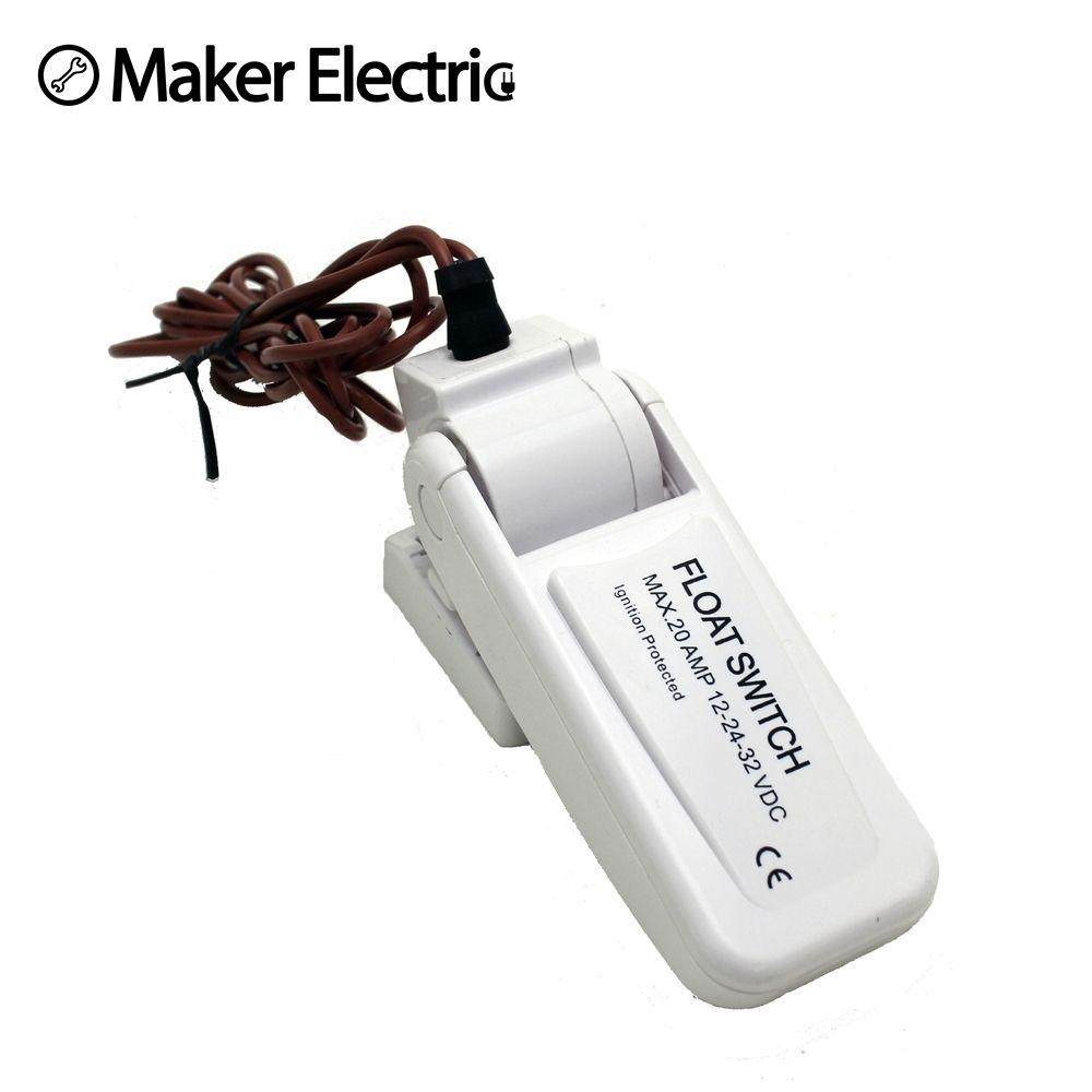 Capteur de débit de cale Passe pour pompes de cale Automatique Électrique Pompe À Eau Interrupteur À Flotteur DC Livraison Gratuite MK-CFS12