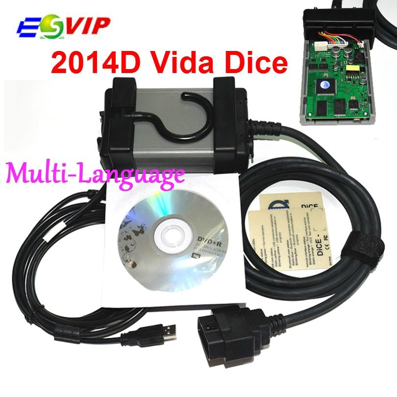 Latest Version 2014D Multi-language Vida Dice For Vo--lv--o Professional Diagnostic Scanner Quality Free Shipping