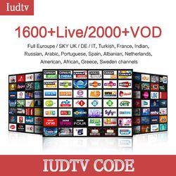 1 année Iudtv Abonnement M3U APK Europe Suédois Portugal Arabe IPTV Adulte Abonnement SUR 2000 Canaux USA Suède Français