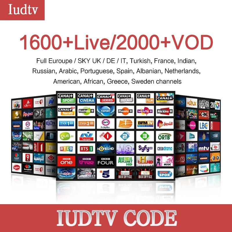 1 year Iudtv Subscription M3U APK Europe Swedish Portugal Arabic IPTV Adult Subscription OVER 2000 Channels USA Sweden French