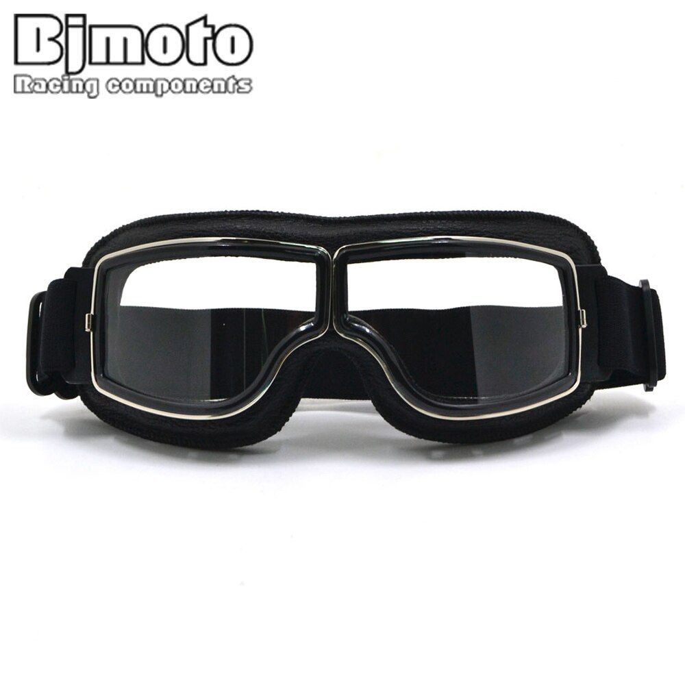 New Vintage For Harley Style Motorcycle Helmet Goggles Scooter Glasses Aviator Pilot Cruiser Steampunk with Free Bag