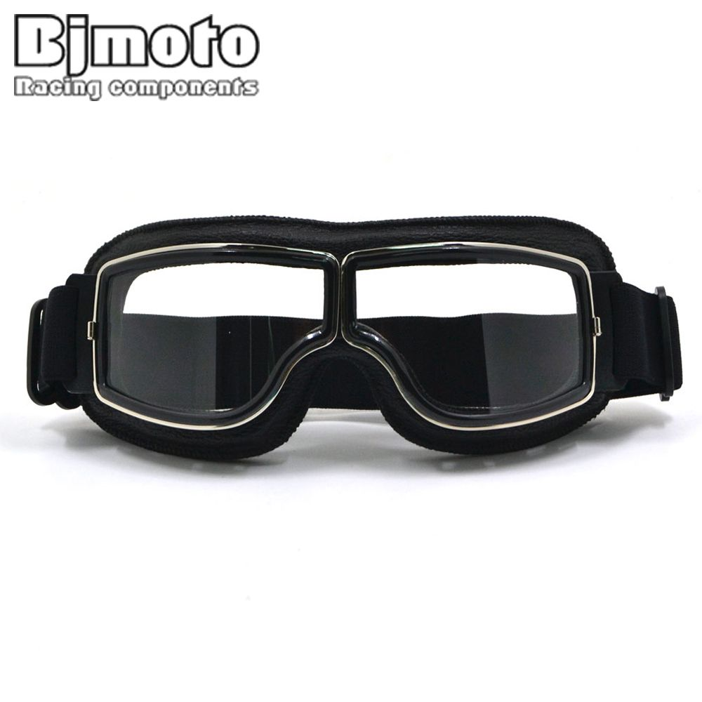 New Vintage For Harley Style Motorcycle Helmet Goggles Scooter Glasses Aviator Pilot <font><b>Cruiser</b></font> Steampunk with Free Bag