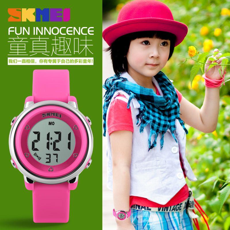 2019 SKMEI enfants montre LED sport numérique garçons filles montres mode gelée dessin animé enfants montres étanche enfant montre-bracelet
