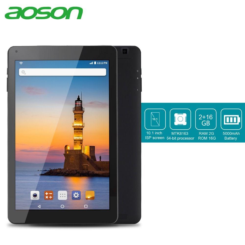 Aoson R101 tablet 10.1 pouce 2 gb + 32 gb Quad Core Comprimés Android 6.0 Quad Core MTK Tablet PC double Caméras WIFI Bluetooth GPS