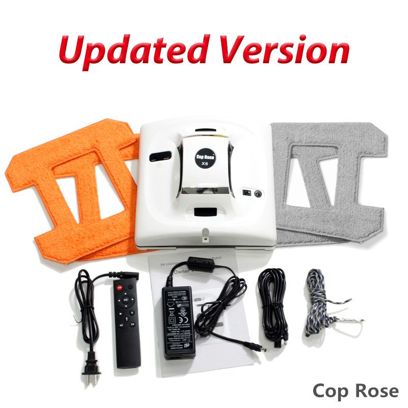 COP ROSE X6 Automatic Window Cleaning Robot,intelligent Washer,Remote Control,Anti fall UPS Algorithm Glass vacuum Cleaner Tool