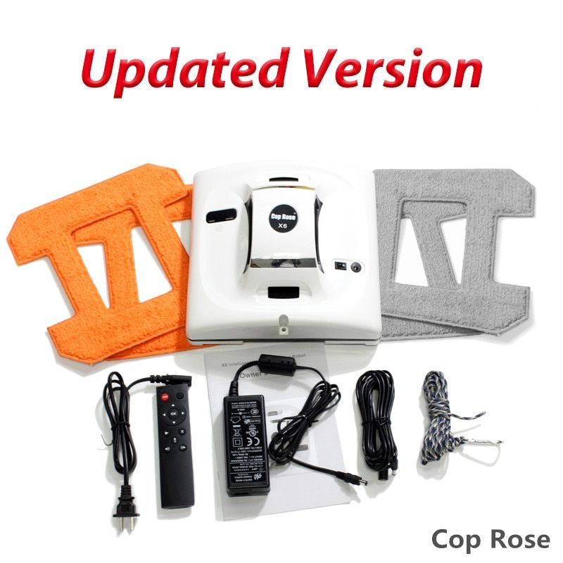 COP ROSE X6 Automatic Window Cleaning <font><b>Robot</b></font>,intelligent Washer,Remote Control,Anti fall UPS Algorithm Glass vacuum Cleaner Tool