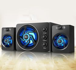 SADA D-209 With Colorful LED light Desktop Computer Speaker with Subwoofer - Perfect 2.1 Gaming and Multimedia PC speakers
