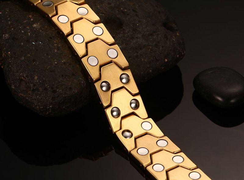 Top quality Europe and the United States health gold bangles bracelets for men hologram Charm bracelet