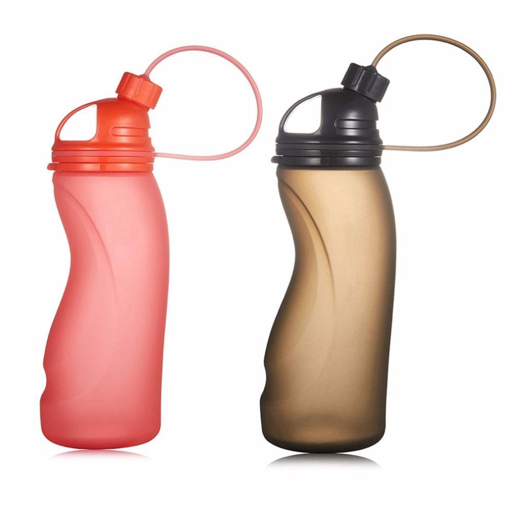 Innovative Lebensmittelqualität Silikon Sport Faltbare Wasserflasche für Outdoor Radfahren Klettern Sport DH-006 500 ML drop shipping