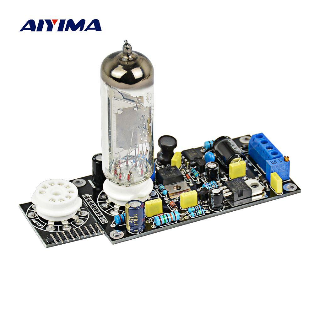 AIYIMA 6E2 Tube Préamplificateur Conseil Tube à vide Lecteur Préampli DAC Audio led Niveau mètre indicateur VU Basse Tension Oeil Magique