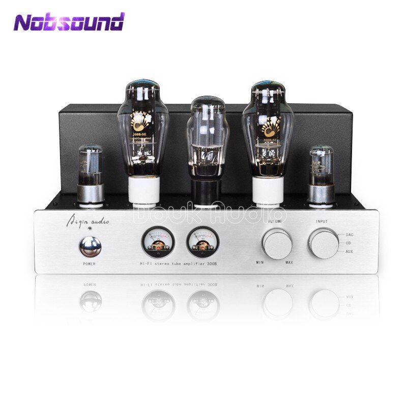 AIQIN Latest PSVANE 300B HiFi Stereo Tube Amplifier Pure Class A Single-ended AMP 9W*2 Handmade Scaffolding Amp