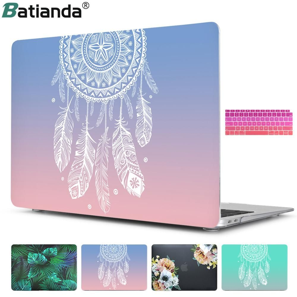 Étui rigide en plastique avec couvercle de clavier pour MacBook Air 13 11 Pro 13 15 2019 écran Retina & Touch Bar nouveau 12 13