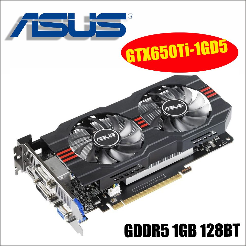 ASUS Graphics Card Used Original GTX650Ti-1GD5 GTX 650 Ti 1GB 128Bit GDDR5 Video Cards for nVIDIA Geforce GTX 650Ti VGA Cards