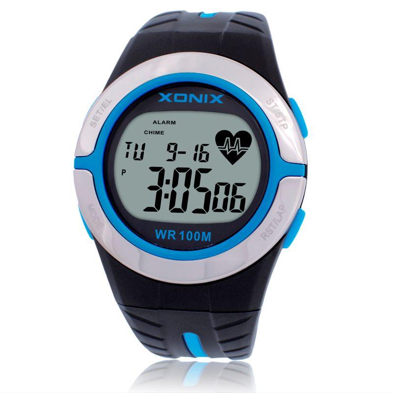 Chaud!! Moniteur de fréquence cardiaque unisexe Sport montres étanche 100 m hommes et femmes Montre numérique en cours d'exécution plongée horloge à main Montre Homme