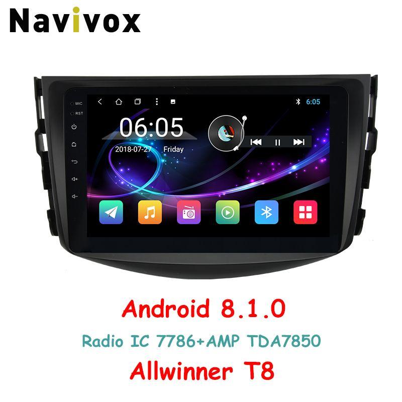 Navivox 2 Din Android 8.1.0 car multimedia player Radio GPS Stereo Audio Player car dvd for toyota rav 4 Eight Core (no dvd)
