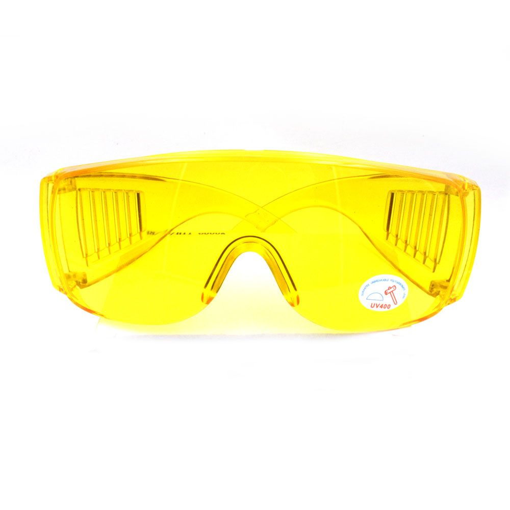 1Pcs Yellow Automotive Air Conditioning Leak Detector Glass/UV Protection Adjustable Safety Glasses UV 400 Car Parts