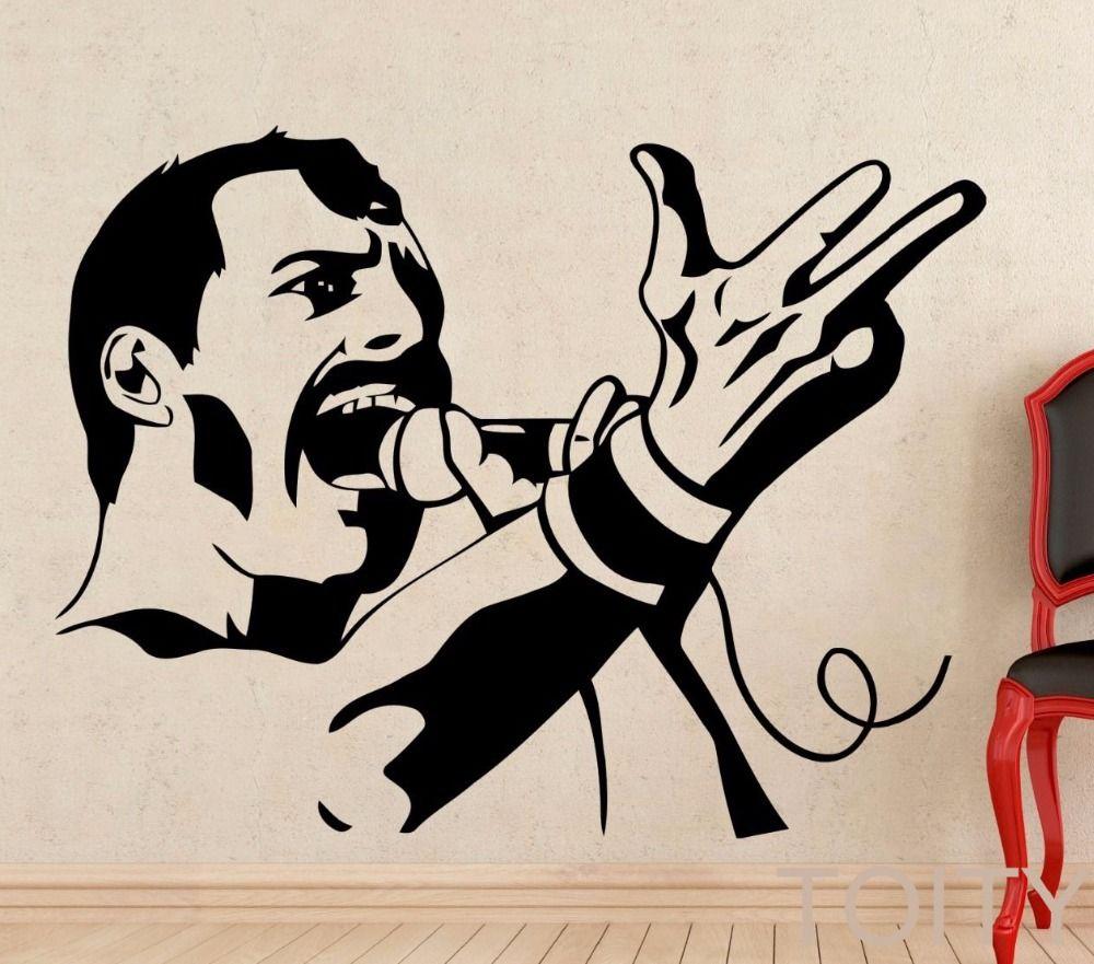 Фредди Меркьюри настенные рок-музыка Queen винил Стикеры Ретро Книги по искусству Декор Бар Studio клуб Ресторан домашнего интерьера комнаты Нас...