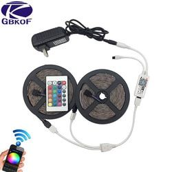 10M RGB LED Strip Light 2835 SMD Waterproof RGB Tape 5M 15M LED Tape lamp flexible diode+WiFi controller+DC12V Power Adapter set