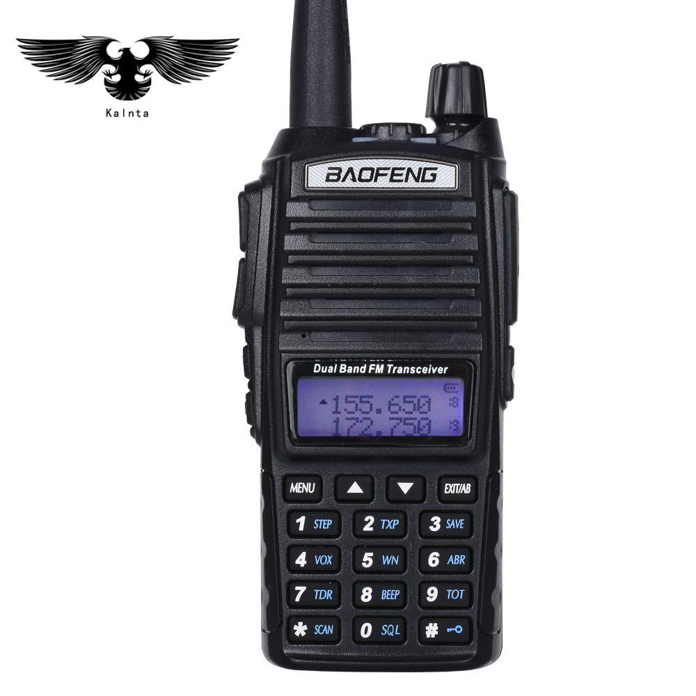 Baofeng UV-82 Walkie Talkie двухдиапазонный УКВ портативный двухстороннее радио CB радио FM трансивер с Pin PTT спикер микрофон