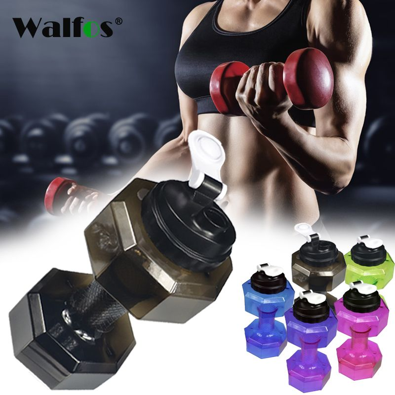 2.5L Dumbbells Shaped Plastic Big Large Capacity Gym Sports Water Bottle Outdoor Fitness Bicycle Bike Camping Cycling Kettle New