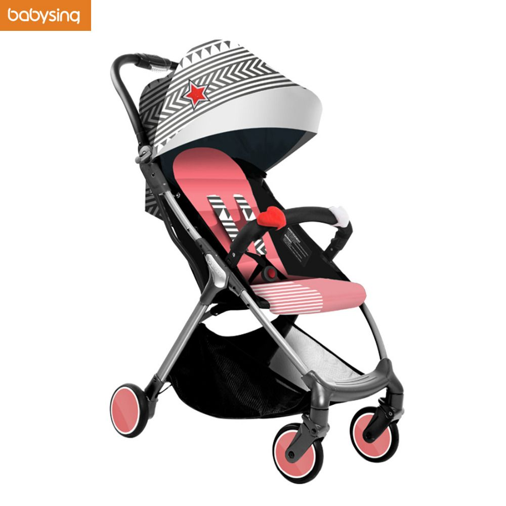 ON SALE Babysing Lightweight Stroller 1S Fold Portable Traveling Stroller Can Take Plane 3D Design With Gift Soft Baby Blanket