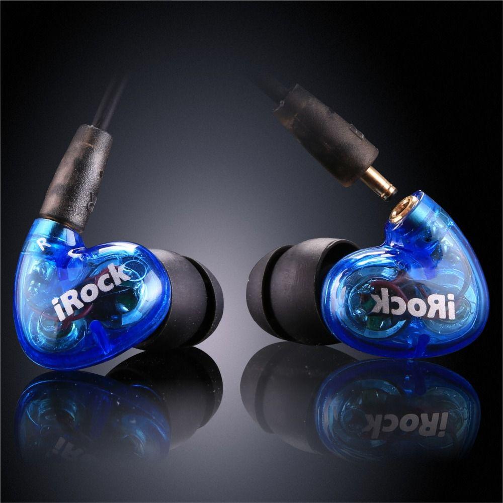 YMDX irock A8 dans l'oreille écouteur Transparent filaire Super basse stéréo casque double pilote avec microphone pour téléphone intelligent 3.5mm prise