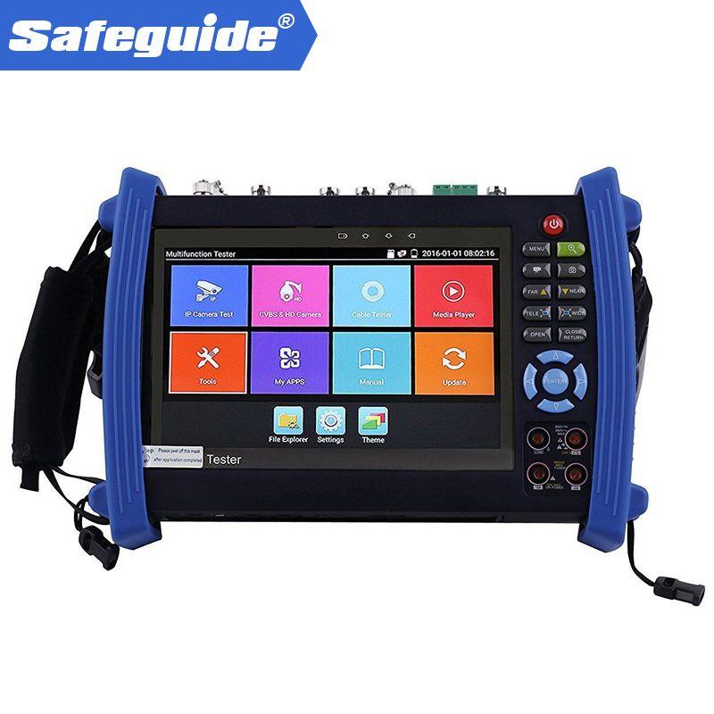 IPC-8600plus serie IP CCTV tester monitor ip analog AHD TVI CVI SDI kamera tester H.265 4 karat 4MP 5MP ONVIF wifi POE 12 v