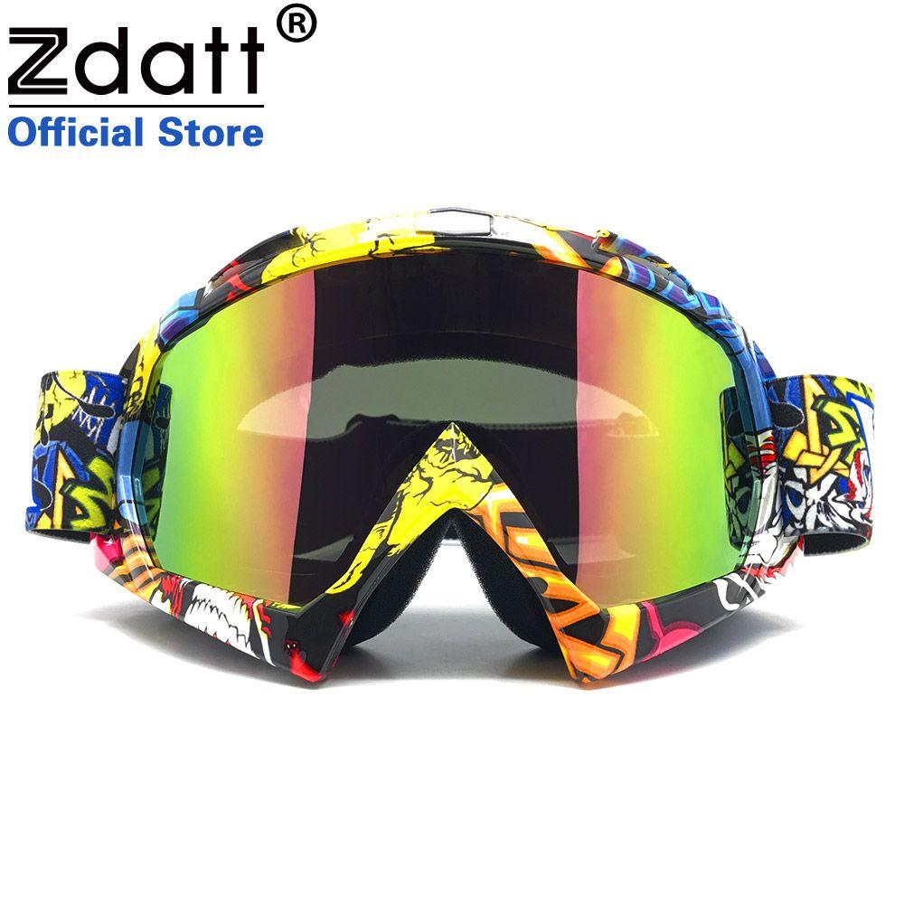 Zdatt lunettes de moto vtt hors route vélo Anti-poussière Gafas lunettes de course Motocross Anti-vent lunettes Ski MX lunettes